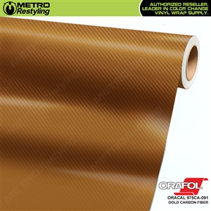 ORACAL 975CA-091 Gold Carbon Fiber Premium Vinyl Auto Wrap