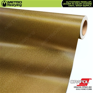 ORACAL 975HC-0791 Gold Honeycomb Premium Vinyl Auto Wrap