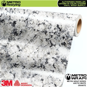 Metro Arctic White Granite Vinyl Wrap Film