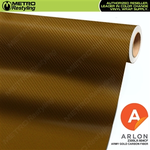 "Arlon Ultimate PremiumPlusâ""¢ Vinyl Wrap Film Army Gold Carbon Fiber 504CF"