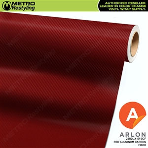 "Arlon Ultimate PremiumPlusâ""¢ Vinyl Wrap Film Red Aluminum Carbon Fiber 519CF"