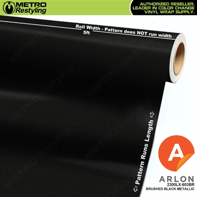 "Arlon Ultimate PremiumPlusâ""¢ Vinyl Wrap Film Brushed Black Metallic 603BR"