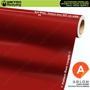 "Arlon Ultimate PremiumPlusâ""¢ Vinyl Wrap Film Brushed Red Aluminum 619BR"