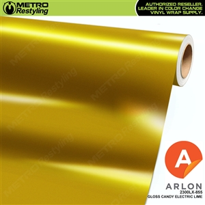 "Arlon Ultimate PremiumPlusâ""¢ Vinyl Wrap Film Gloss Candy Electric Lime 855"