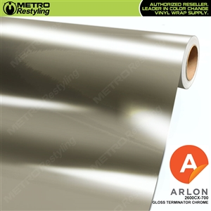 Arlon Ultimate PremiumPlus Gloss Terminator Chrome Vinyl Wrap Film