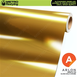 Arlon Ultimate PremiumPlus Gloss Gold Chrome Vinyl Wrap Film