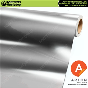 Arlon Ultimate PremiumPlus Gloss Silver Chrome Vinyl Wrap Film