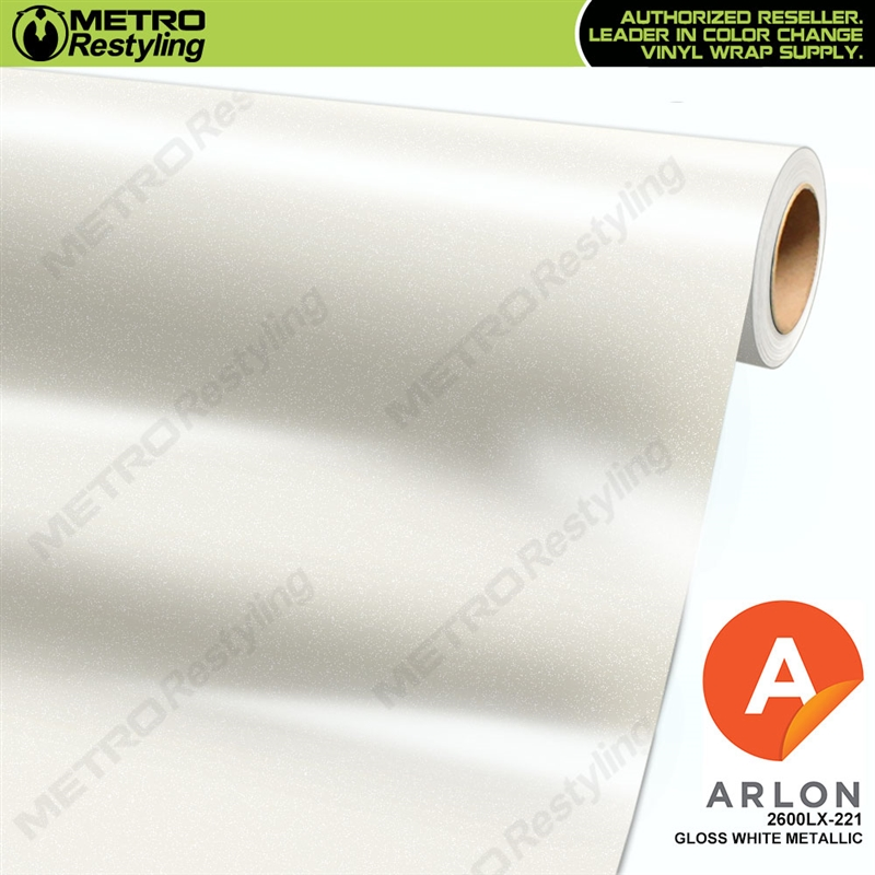 Arlon Ultimate PremiumPlus Gloss White Metallic Vinyl Wrap Film | 2600LX-221