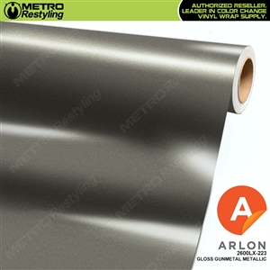 "Arlon Ultimate PremiumPlusâ""¢ Vinyl Wrap Film Gloss Gunmetal Metallic 223"