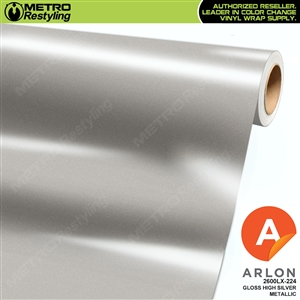 "Arlon Ultimate PremiumPlusâ""¢ Vinyl Wrap Film Gloss High Silver Metallic 224"