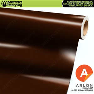 "Arlon Ultimate PremiumPlusâ""¢ Vinyl Wrap Film Gloss Brown Metallic 227"