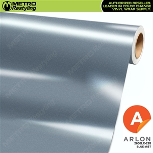 "Arlon Ultimate PremiumPlusâ""¢ Vinyl Wrap Film Gloss Blue Mist Metallic 228"