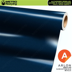 "Arlon Ultimate PremiumPlusâ""¢ Vinyl Wrap Film Gloss Daytona Blue Metallic 229"