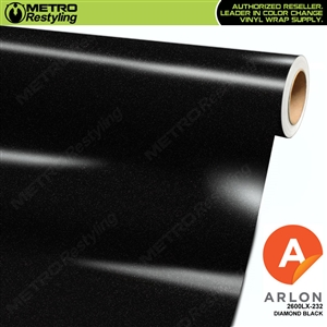 "Arlon Ultimate PremiumPlusâ""¢ Vinyl Wrap Film Gloss Diamond Black Metallic 232"