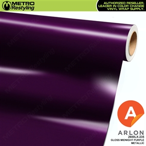 "Arlon Ultimate PremiumPlusâ""¢ Vinyl Wrap Film Gloss Midnight Purple Metallic 235"