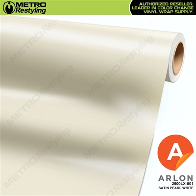 "Arlon Ultimate PremiumPlusâ""¢ Vinyl Wrap Film Satin Pearl White 501"