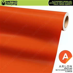 "Arlon Ultimate PremiumPlusâ""¢ Vinyl Wrap Film Matte Sunkiss Orange Aluminum 645"
