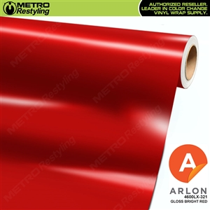 Arlon PerformancePlus Vinyl Wrap Film Gloss Bright Red 321