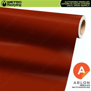 Arlon PerformancePlus Vinyl Wrap Film Matte Roasted Red 419