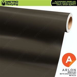 Arlon PerformancePlus Vinyl Wrap Film Matte Graphite Grey Metallic 423