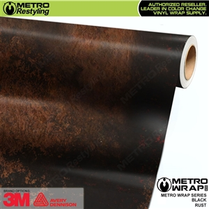 Metro Black Rust Vinyl Car Wrap Film