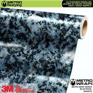 Metro Blue Pearl Granite Vinyl Car Wrap Film