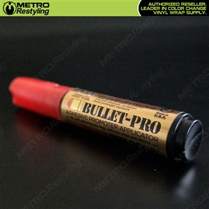 Medium Bullet Pro Adhesive Promoter Primer Pen for vehicle vinyl wraps, automotive molding, decals, etc