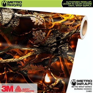 Burning Voodoo Camouflage Car Wrap Vinyl