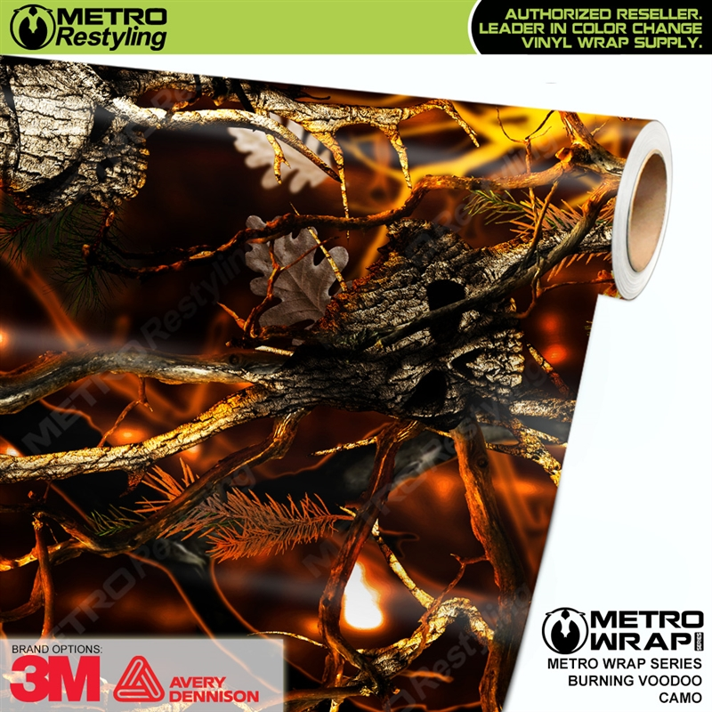 Burning Voodoo is a camo vehicle wrap vinyl printed with