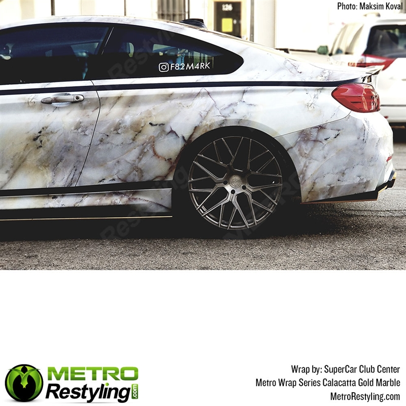 Metro Calacatta Gold Marble Vinyl Car Wrap Film Shop
