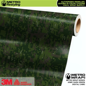 Digital Army Dark Green Camouflage Vinyl Car Wrap Film