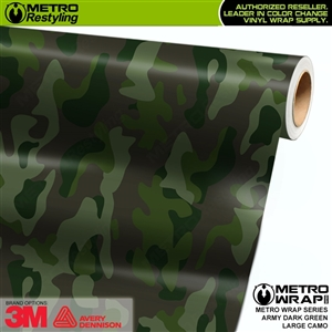 Large Army Dark Green Camouflage Vinyl Car Wrap Film