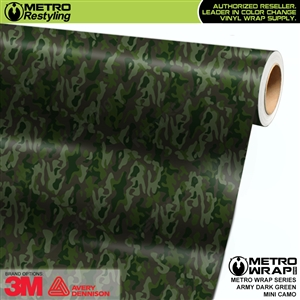 Mini Army Dark Green Camouflage Vinyl Vehicle Wrap Film