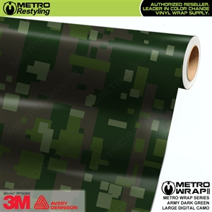 Large Digital Army Dark Green Camouflage Vinyl Vehicle Wrap Film