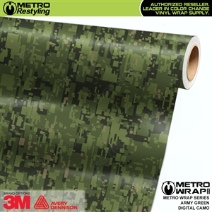 Digital Army Green Camouflage Vinyl Car Wrap Film