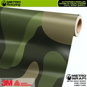 Jumbo Army Green Camouflage Vinyl Car Wrap Film