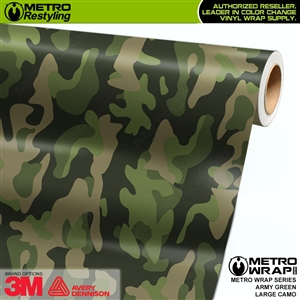 Large Army Green Camouflage Vinyl Car Wrap Film