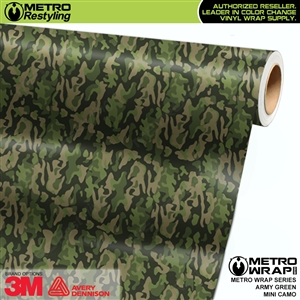 Mini Army Green Camouflage Vinyl Vehicle Wrap Film