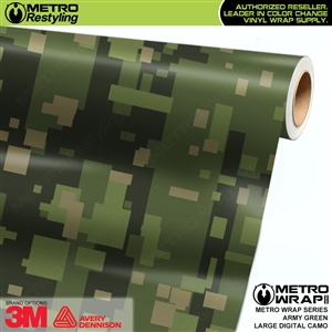 Large Digital Army Green Camouflage Vinyl Vehicle Wrap Film