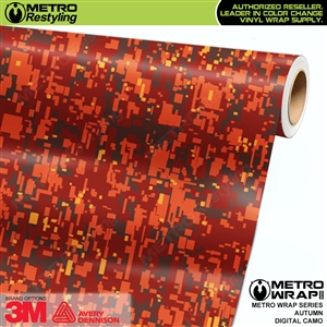 Digital Autumn Camouflage Vinyl Car Wrap Film