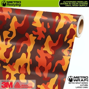 Large Autumn Camouflage Vinyl Vehicle Wrap Film