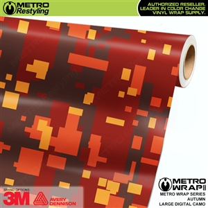 large digital autumn camo wrap