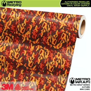 mini autumn camouflage vinyl wrap