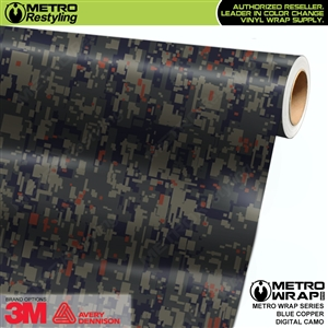 Digital Blue Copper Camouflage Vinyl Car Wrap Film