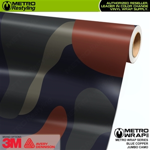 Jumbo Blue Copper Camouflage Vinyl Vehicle Wrap Film