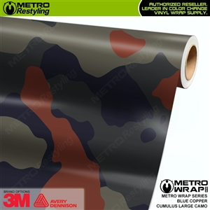 large cumulus blue copper camo vinyl wrap