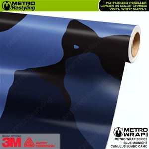 Jumbo Cumulus Blue Midnight Camouflage Vinyl Car Wrap Film