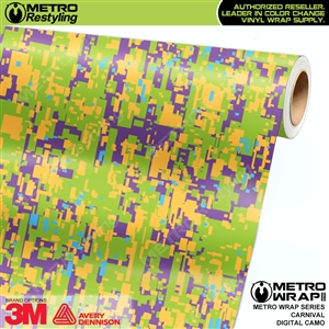 Digital Carnival Camouflage Vinyl Car Wrap Film