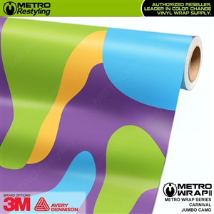 Jumbo Carnival Camouflage Vinyl Vehicle Wrap Film