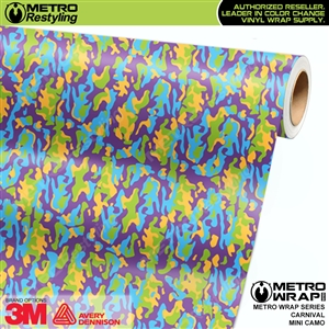 Mini Carnival Camouflage wrap car vinyl film